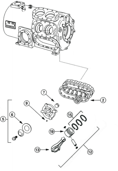 Discharge Valve Piston And Connecting Rod Assembly Trane